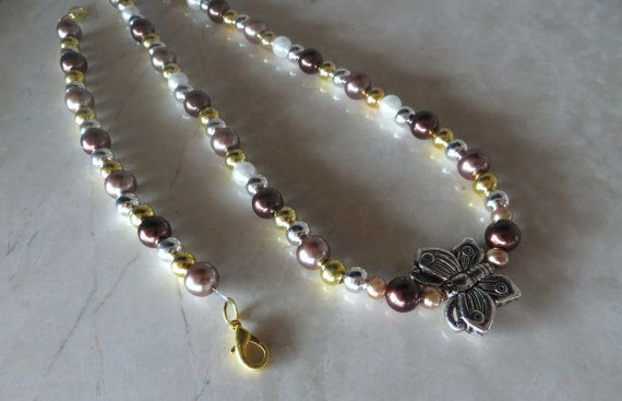 Regal Gold #Brown and #Butterfly Unique and Mixed-Matched Beaded #Jewelry by AlliFlair, only $23.00! Free shipping worldwide with tracking number!