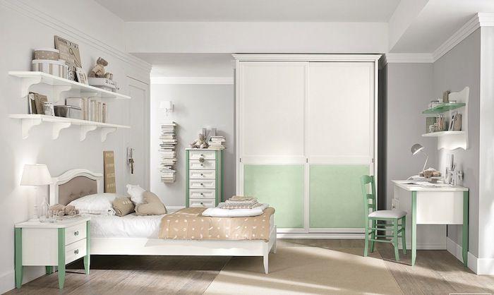 Kinderzimmer Einrichten Dezente Farben Und Deko Weiß Beige Grün Farben Im  Schlafzimmer