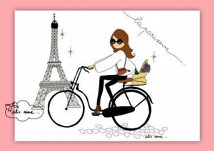 Illustration imprimée La Parisienne  : Affiches, illustrations, posters par alixaime