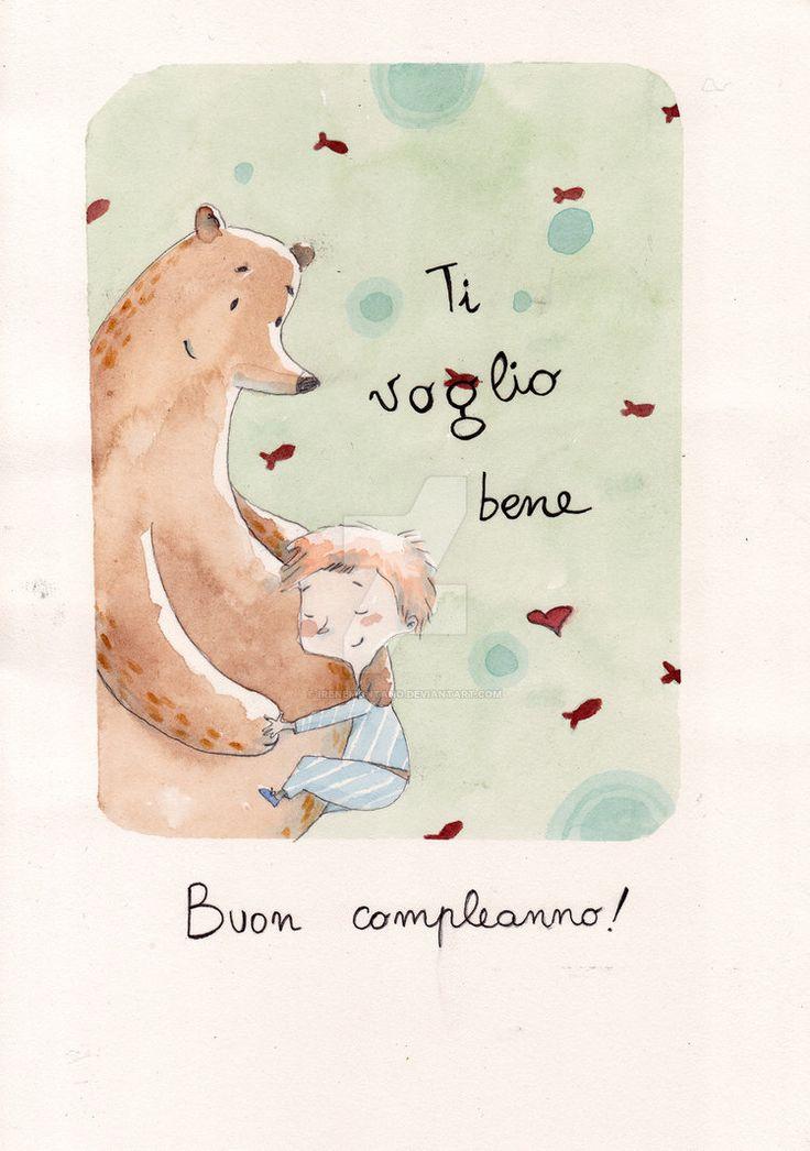 Buon Compleanno! by IreneMontano #bimbo #illustrazione #orso #buoncompleanno