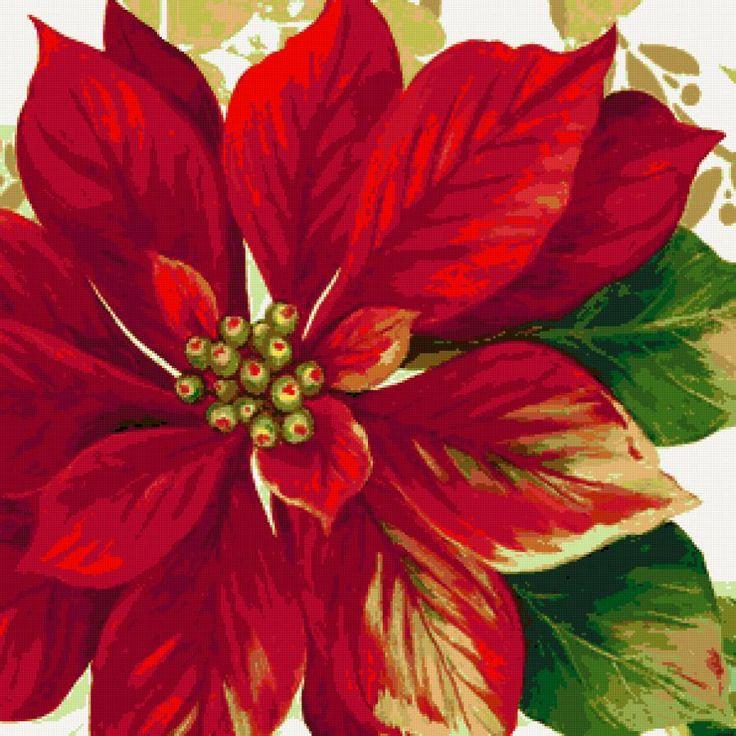 Рождественская подушка - Схемы вышивки - poltanya1 - Авторы - Портал «Вышивка крестом»