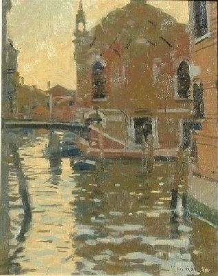 Ken Howard  - abbazzi della misericordia, evening light
