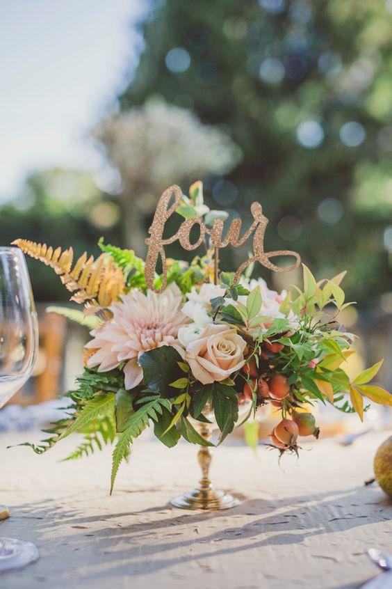 Rustic Table Numbers Wedding Table Number by JuliesElegantCrafts