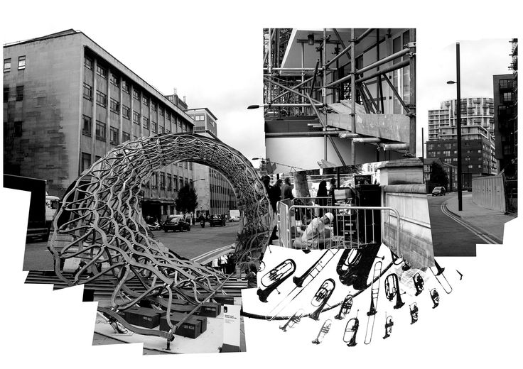 Collage mapping, reminds me of Gordon Matta Clark