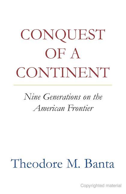 conquest of a continent pdf