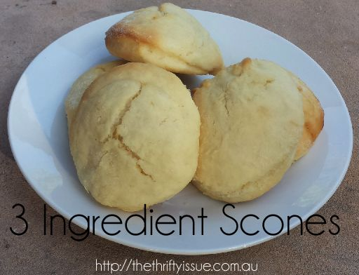 This is a super simple 3 ingredient scone recipe that is a great way to use up cream that is about to turn and left over lemonade! Cheap, easy and fun for kids.