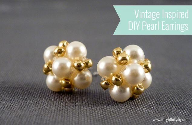 DIY Jewelry DIY Earrings DIY Tutorial: Vintage Inspired Pearl Earrings