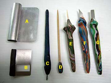 The polymer clay : How to make your own creative polymer clay tools