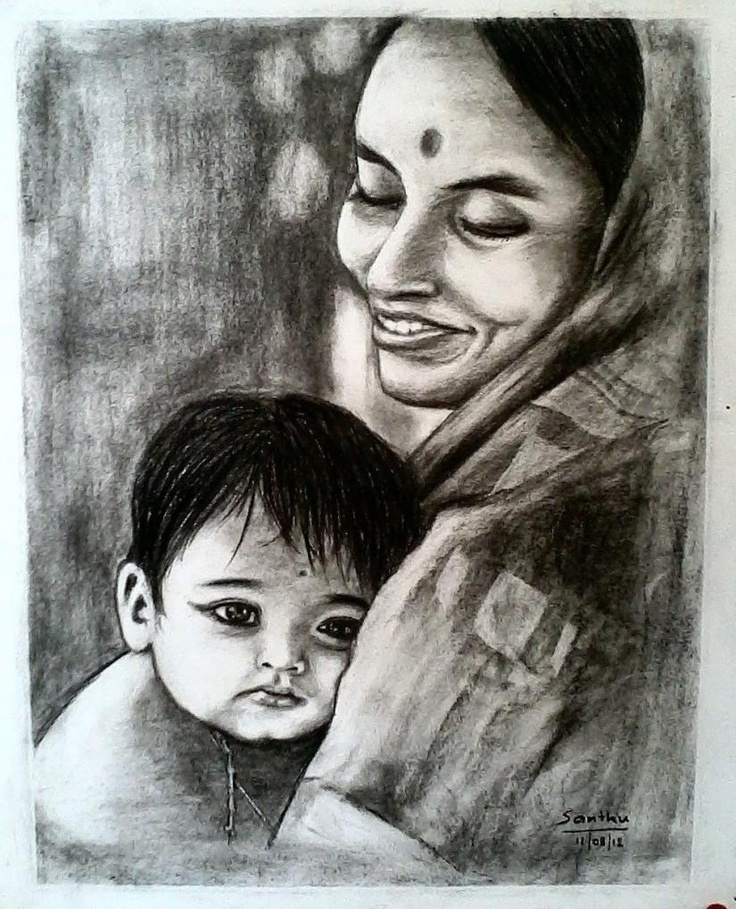 Happy Mothers Day - Sketching by Santhosh Aradhya in My Projects at touchtalent