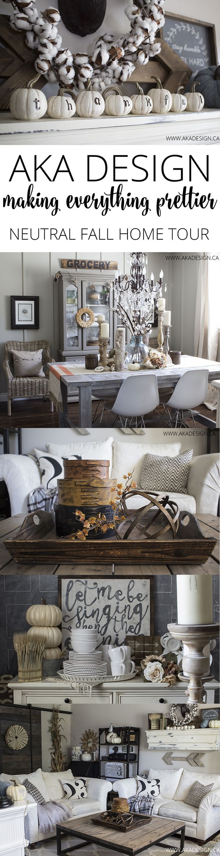 AKA Design Neutral Fall Home Tour | beautiful neutral fall decor | farmhouse country rustic chic style | fall and autumn home decor ideas and inspiration for DIY craft