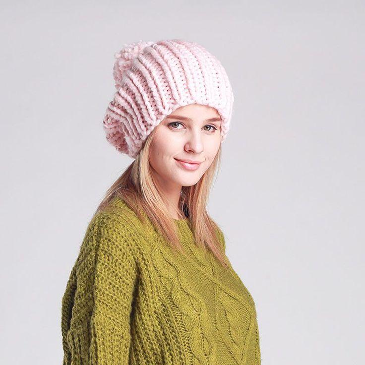 Top Pom Pom Knitted Beanie