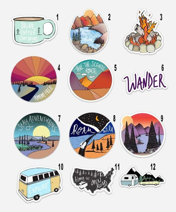 Build Your Own Sticker Pack Pick Your 3 Favorite Sticker Designs For More Pics And Sizes See The Individual S Aesthetic Stickers Cool Stickers Sticker Design