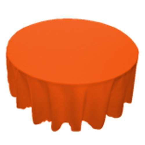 Smarty Had A Party $6.99 TCPY 90OR 90 Inch Round Polyester Orange Tablecloth