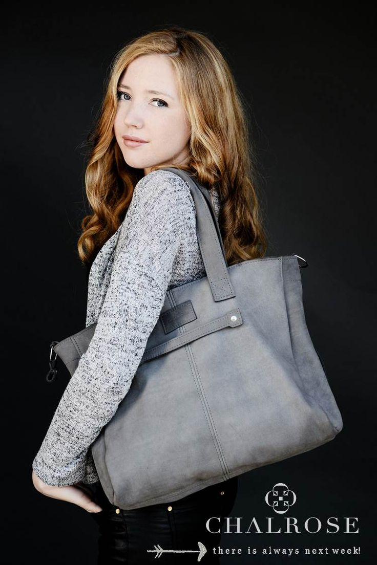 Chalrose Next Week Bag in Grey Leather!! www.chalrose.com
