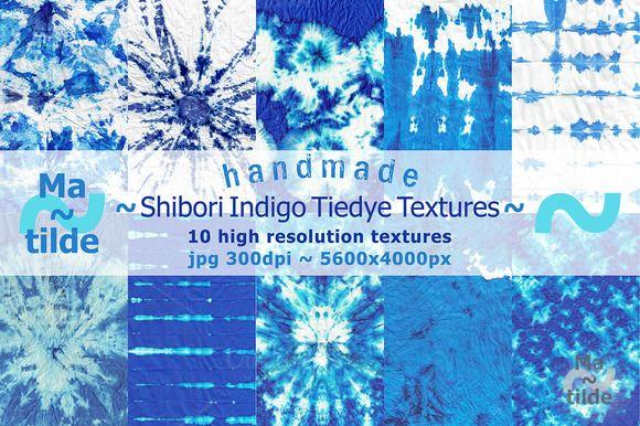 Shibori Indigo Tiedye Textures by Matilde on Creative Market