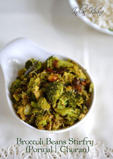 Healthy Broccoli Beans Stirfry (Thoran, Poriyal) | Broccoli Recipe