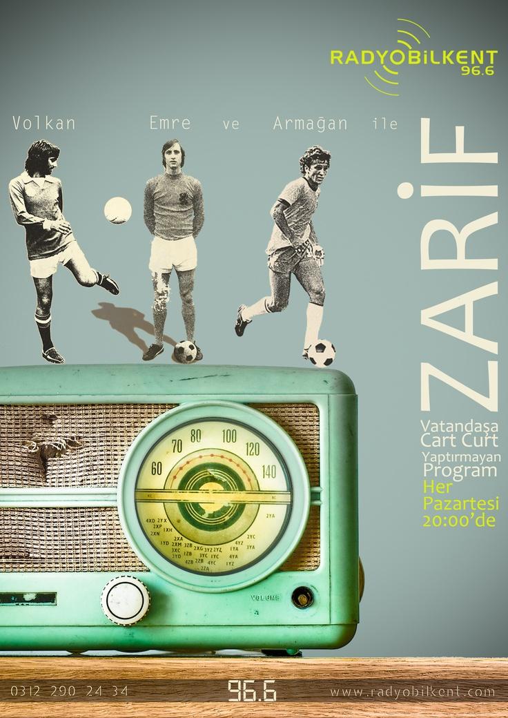 Arif olanlara demli çay tadında program Zarif, zarif adımlarla haftaya başlıyor. Ortadoğu ve Balkanların en zarif programı her Pazartesi saat 20.00'de Radyo Bilkent'te... (Şubat-Mayıs 2012)