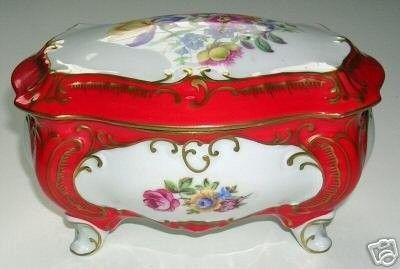 Vintage Porcelain Trinket Box Ilmenau Henneberg German (12/02/2007)