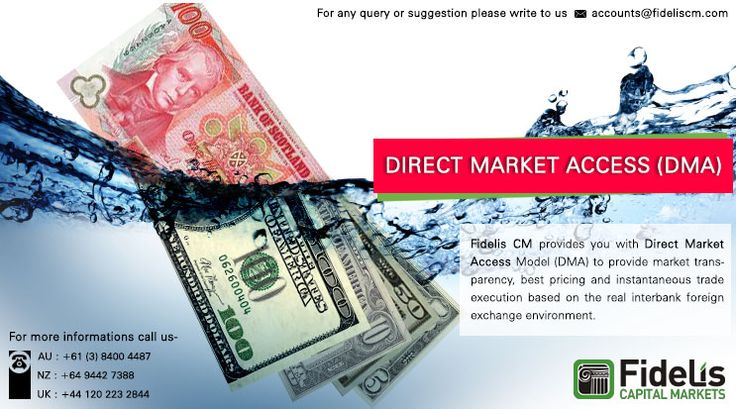 Fidelis provides you Direct Market Access Model. Click @ www.fideliscm.com