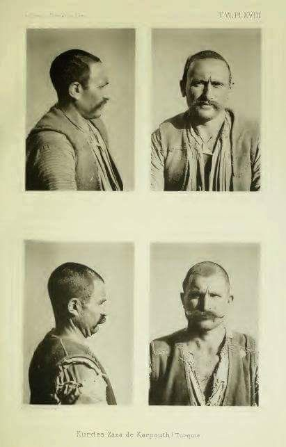 Kurdish Man from Xarput, 1890. Source: Ernest Chantre Missions scientifiques en Transcaucasie Asie Mineure et Syrie, 1890-1984: recherches anthropologiques dans I'Asie occidentale, Archives du Muséum d'historie naturelle de Lyon - G,H.Georg Lyon 1895, p. 321. https://m.facebook.com/KurdishHistoryAndKurdishCultureMedianEmpire/?refid=13