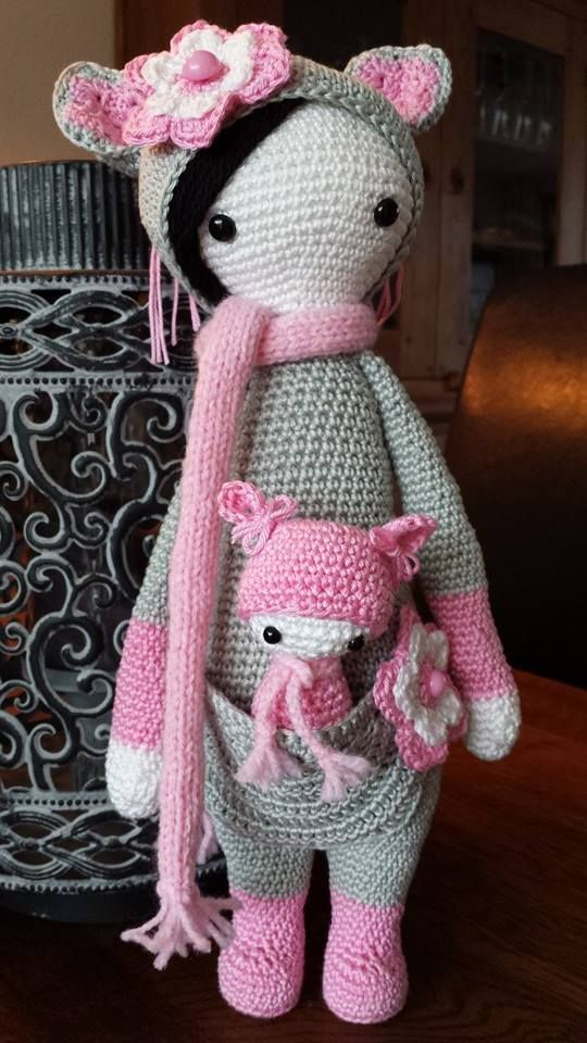 KIRA the kangaroo made by Carin D. / crochet pattern by lalylala