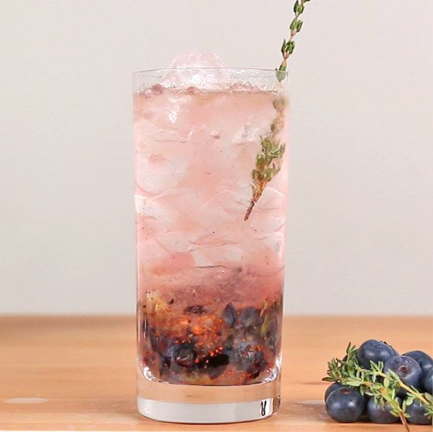 Blueberry Thyme Gin and Tonic | 22 Gin And Tonics That Will Blow Your Mind