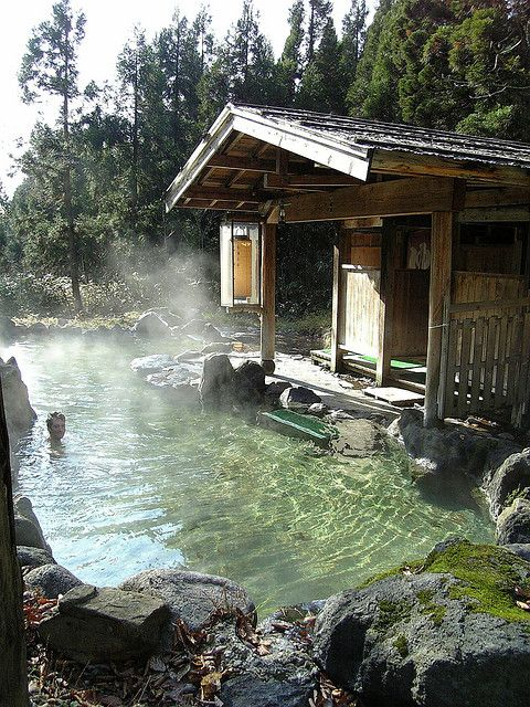 Hot Springs KaniYu at Nyuto Onsen #Hot_Springs #Onsen #Japan