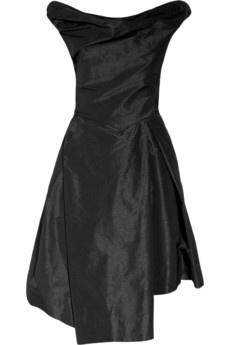 Boeing asymmetric taffeta dress - black - Vivienne Westwood Anglomania