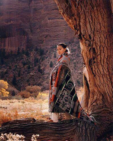 Navajo woman in shawl.                                                       …