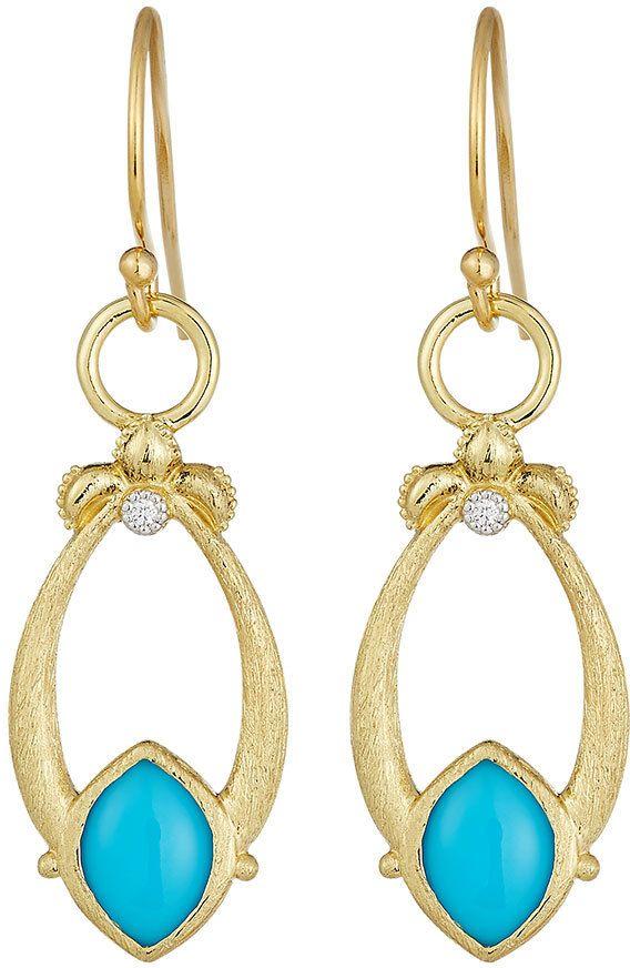 Jude Frances Open Marquise Fleur Citrine Earrings w/ Diamonds MrGChjhNp