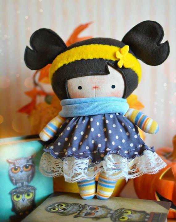 Dress up cloth doll Handmade Tilda rag doll Toddler gift