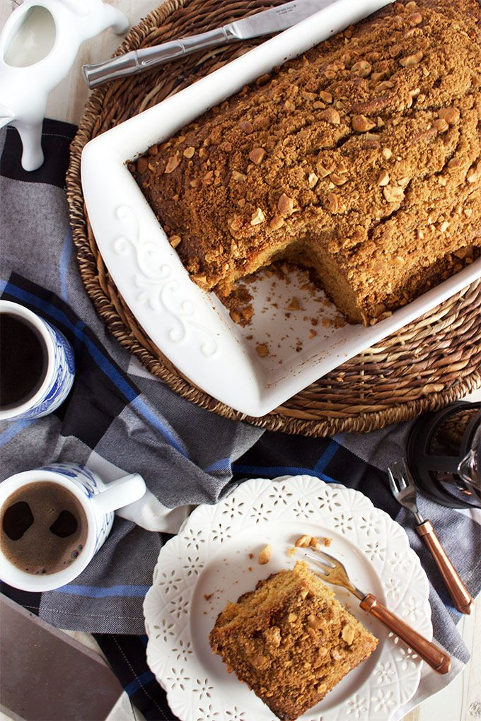 The best brunch recipe around, Gingerbread Coffee Cake is simple to make and perfect for holiday entertaining! | @suburbansoapbox