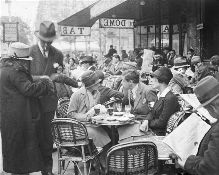 Tihanyi, Café le Dôme, 1925, Kertész André