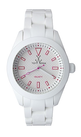 Toywatch Velvety White with Red