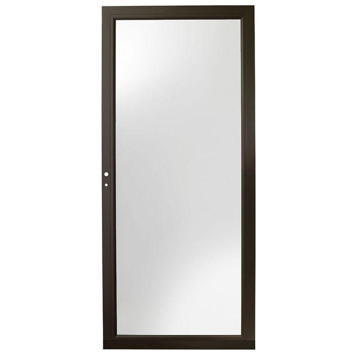Andersen 36 in. x 80 in. 3000 Series Bronze Left-Hand Fullview Easy Install Aluminum Storm Door ~ front door | White for master & patio doors