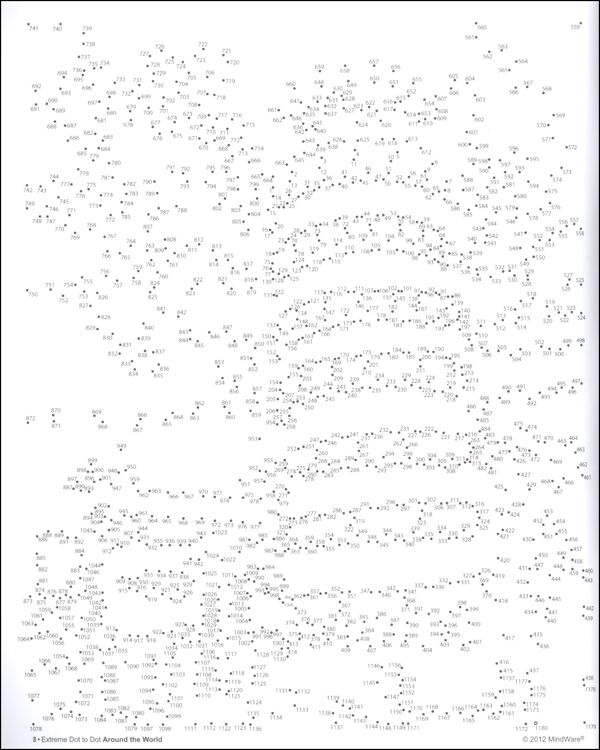 Gutsy image in 1000 dot to dot printable