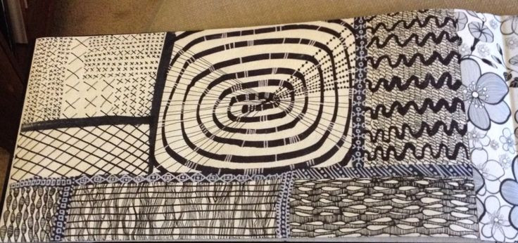 New designs in black and white paint pens