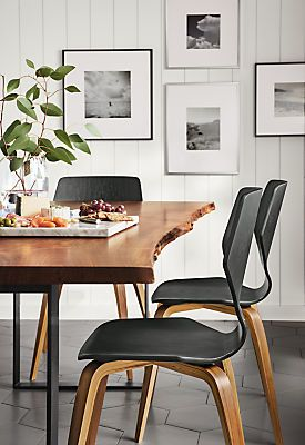 pike chair with wood base dining room rh pinterest at