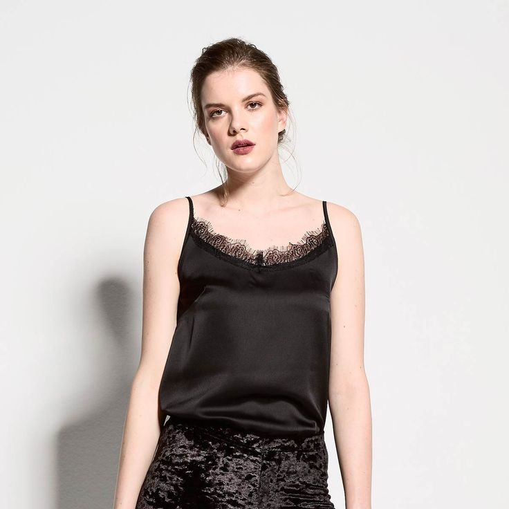 Lingerie top with lace details