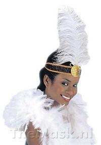 Charleston hoofdband met veer - The MASK Feestartikelen   Feestwinkel voor themafeesten 4.50 euro