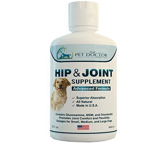 The Pet Doctor's All-Natural Liquid Glucosamine, Advanced Hip and Joint Formula - 32 Fluid Ounces * You can find out more details at the link of the image.