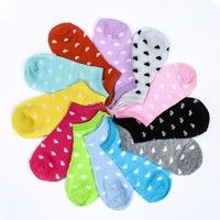 5 pairs Women Comfortable Candy Color Cotton Sock Slippers Short Socks Fashion Ankle Socks Prefect (