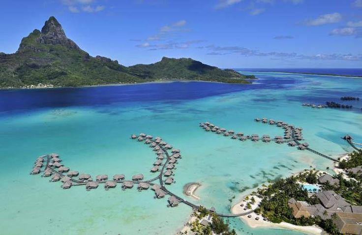 Matira Beach located on the South end of the island of Bora Bora