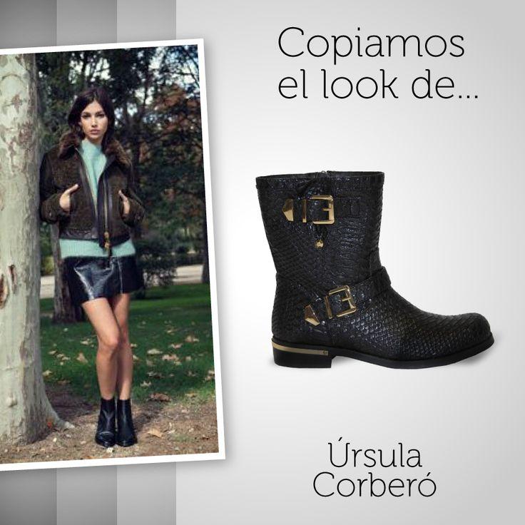 El #estilo de Úrsula Corberó nos encanta, por eso copiamos su #look y lo combinamos con uno de nuestros #botines #animalprint con toques #dorados. Consigue los tuyos aquí