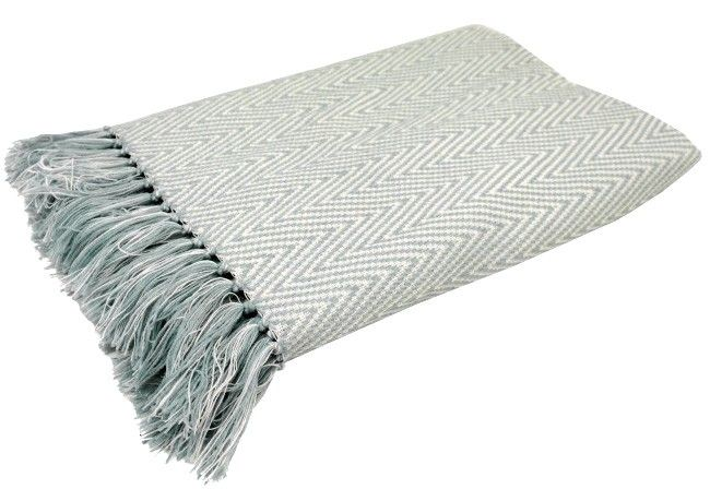 Pretty duck blue patterned cosy throw. Coordinate this throw with an item from the WAM Home Décor cushion range Material:  100% Acrylic http://wamhomedecor.com.au/index.php/chevron-throw-duckegg.html #throwrugs