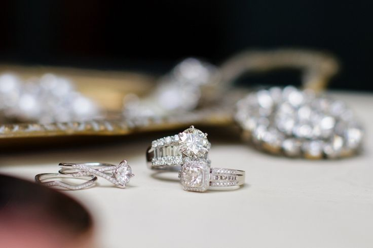 """Wedding Photography Inspiration """"Getting Ready""""    Picture    Description  Gorgeous engagement rings! // photo by Erin Nicole Photography"""