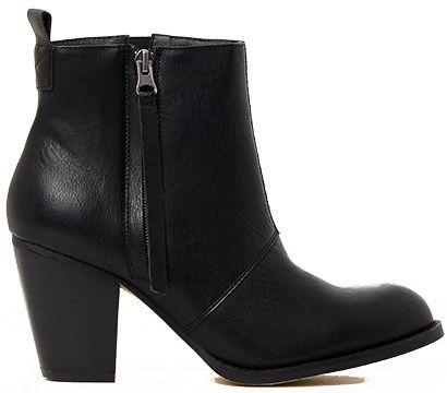 "Lipstik ""Middle"" Zip Ankle Boots in black, $99.95 AUD (Acne Studios Pistol dupes)"