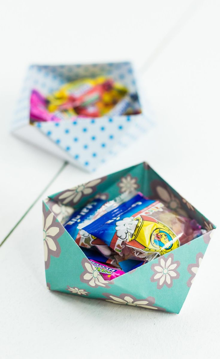 DIY Origami Aufbewahrungsbox selber machen - ohne Kleber und mit nur einem Blatt Papier! Schöne Deko und Aufbewahrungsmöglichkeit für zahlreiche Kleinigkeiten ... Basteln mit Papier