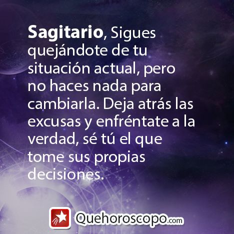 #Horoscopo #Sagitario #Amor #Trabajo #Astros #Predicciones #Futuro #Horoscope #Astrology #Love #Jobs #Astrology #Future http://www.quehoroscopo.com/horoscopodehoy/sagitario.html?utm_source=facebooklink&utm_campaign=semanal&utm_medium=facebook