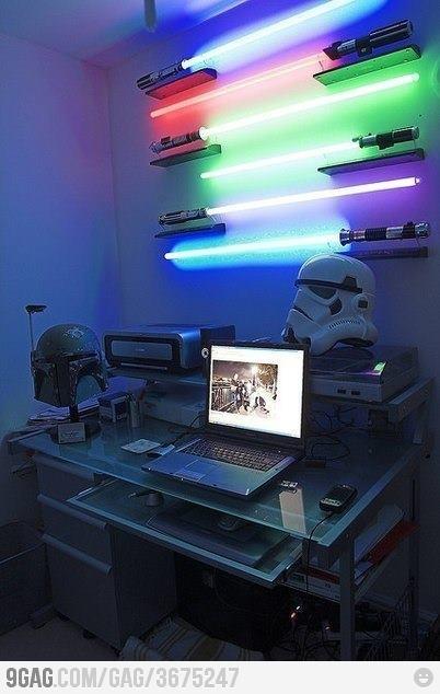 Light up light sabers instead of night light. 17 Best images about Boys bedroom on Pinterest   Shelves  Bedding